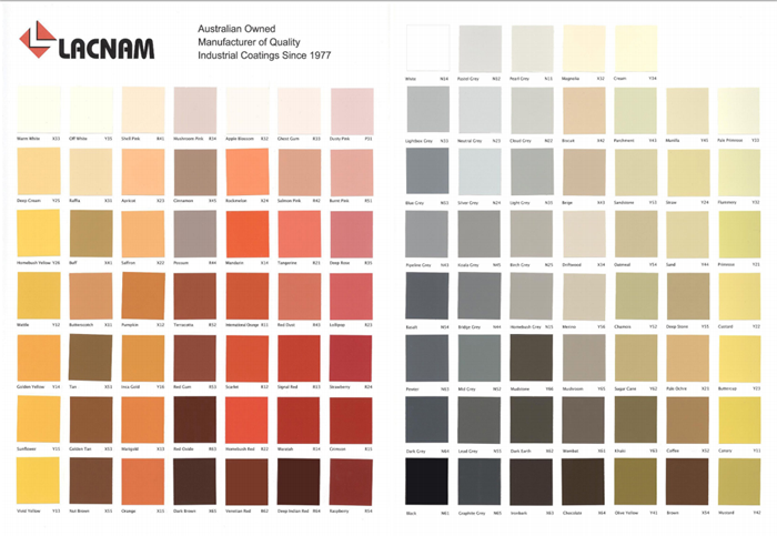 Australian Standard AS2700 Colour Card